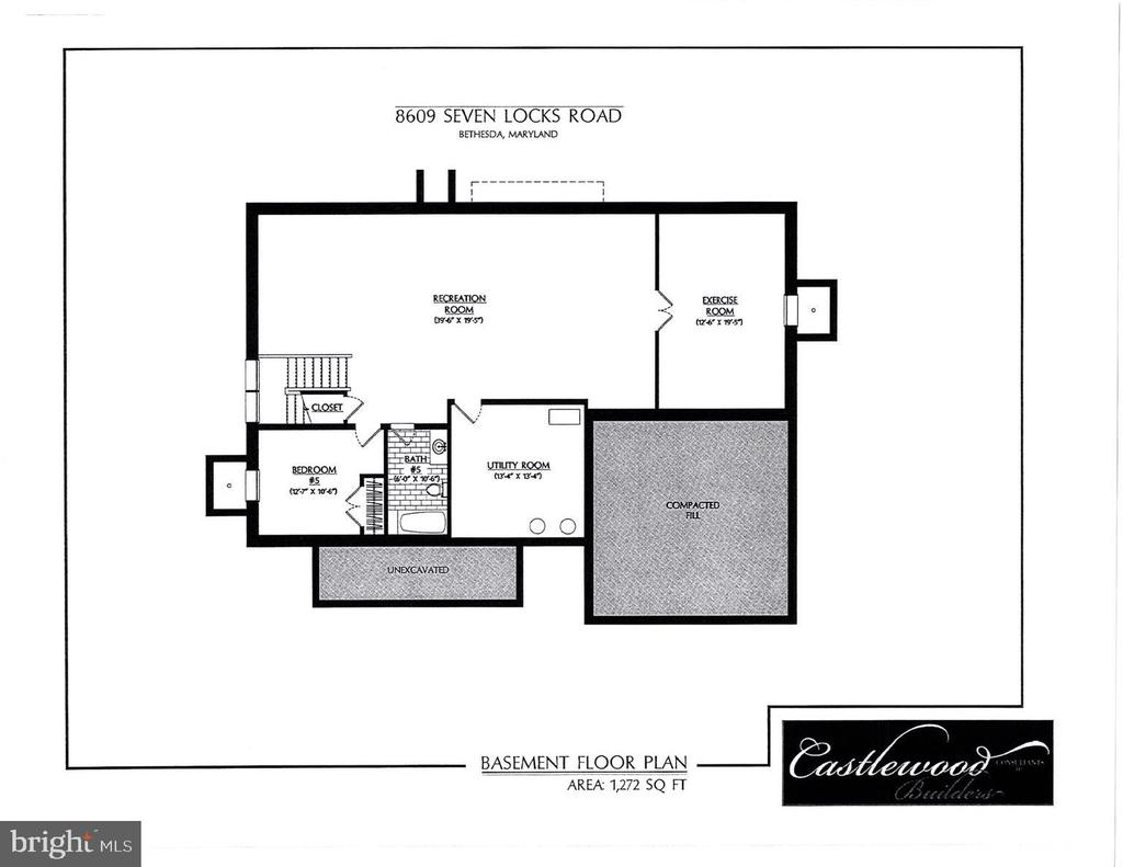 Lower level floor plan - 8609 SEVEN LOCKS RD, BETHESDA