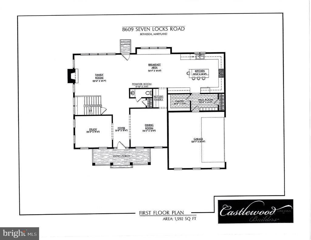 Main level floor plan - 8609 SEVEN LOCKS RD, BETHESDA
