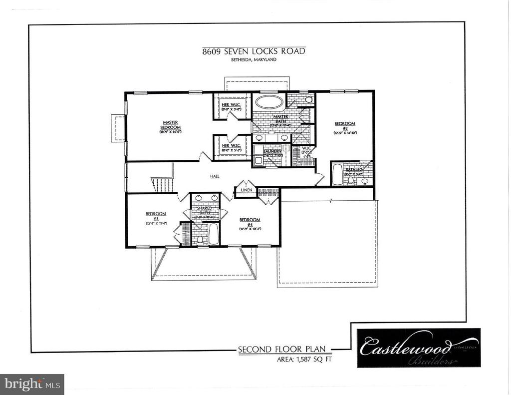 Upper level floor plan - 8609 SEVEN LOCKS RD, BETHESDA