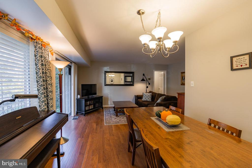 Living room & dining room - 10655 WEYMOUTH ST #101, BETHESDA