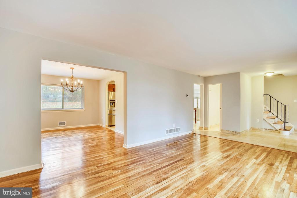 Refinished Floors in Dining Room and Living Room - 6008 NASSAU DR, SPRINGFIELD