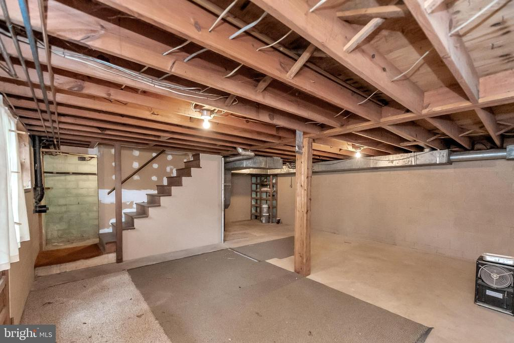 basement with connect stairwell & outside entrance - 11516 ORANGE PLANK RD, SPOTSYLVANIA