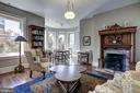 Third Level Library with Cozy Fireplace - 1633 16TH ST NW, WASHINGTON