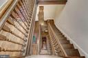 Dog-Leg Staircase View from Upstairs - 1633 16TH ST NW, WASHINGTON