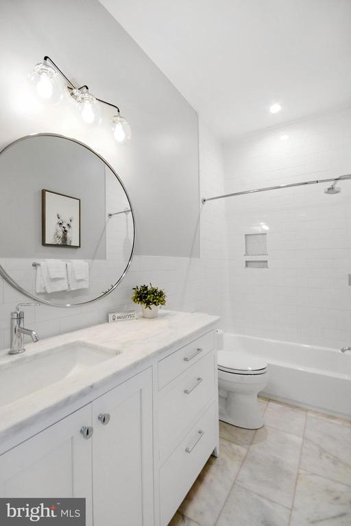 Hall Bathroom -  - classic B&W detailing - 1432 G ST SE, WASHINGTON