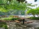 PIcnic area with grills, tables, benches - 10655 WEYMOUTH ST #101, BETHESDA