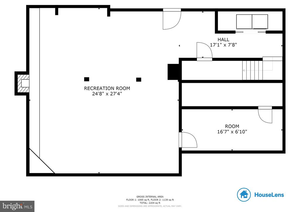 Lower Level Floor Plan! - 135 JOSHUA RD, STAFFORD