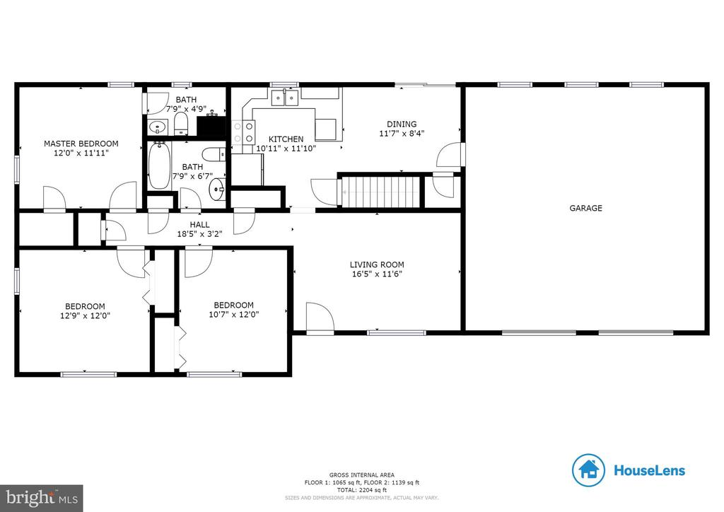 Main Level Floor Plan! - 135 JOSHUA RD, STAFFORD