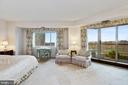 Master bedroom with balcony access - 5600 WISCONSIN AVE #1208, CHEVY CHASE