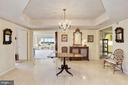 Foyer with marble flooring - 5600 WISCONSIN AVE #1208, CHEVY CHASE