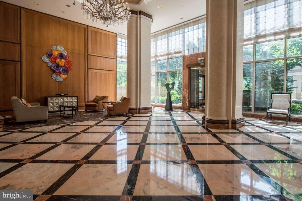 Building 1 lobby - 5600 WISCONSIN AVE #1208, CHEVY CHASE