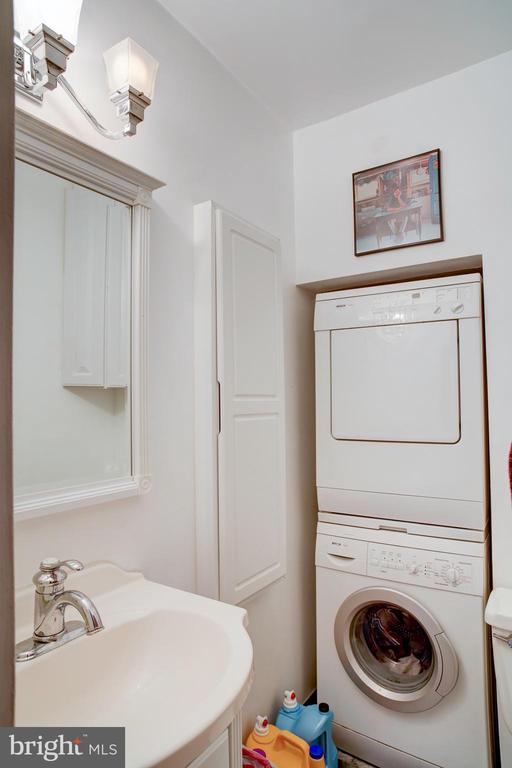 Half bath attached to main bedroom with stack  W/D - 154 G ST SW #149, WASHINGTON
