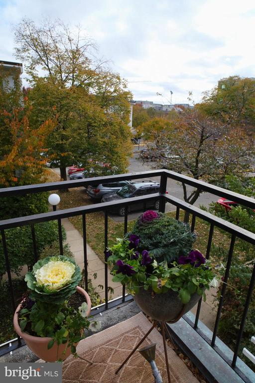Exterior balcony off of living space - 154 G ST SW #149, WASHINGTON