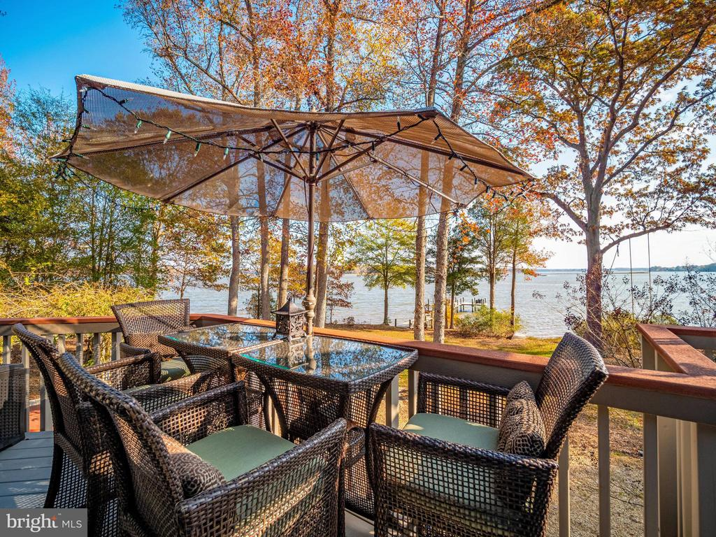 Wrap around deck with 180 degree waterview - 4610 FRIENDSHIP ACRES RD, NANJEMOY