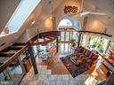 Stair top view - Hand-crafted oak pergola - 4610 FRIENDSHIP ACRES RD, NANJEMOY
