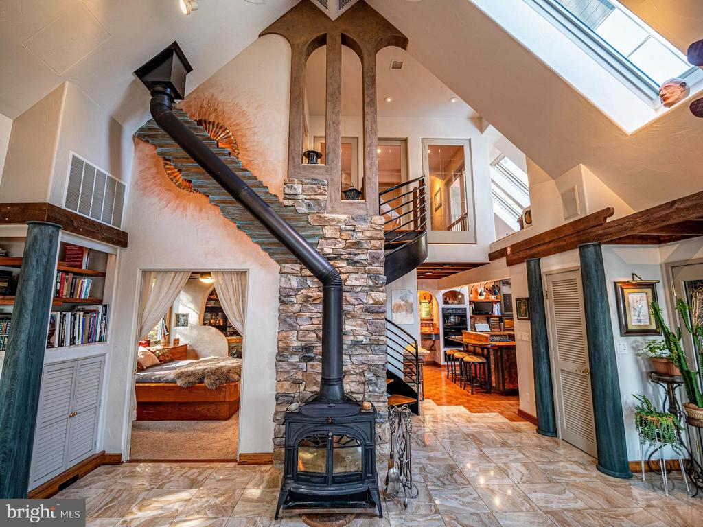 Vermont Castings Wood Stove with stone hearth - 4610 FRIENDSHIP ACRES RD, NANJEMOY