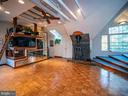 Builtin entertainment center & sleeping loft - 4610 FRIENDSHIP ACRES RD, NANJEMOY