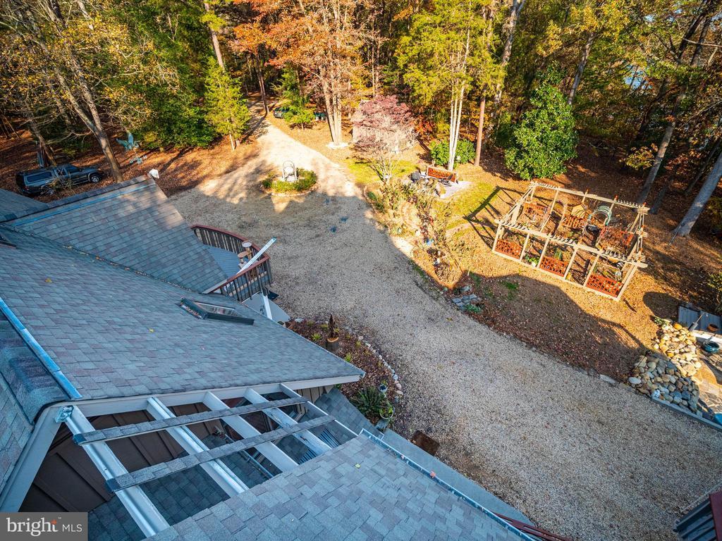 Deck view of garden from 4th floor