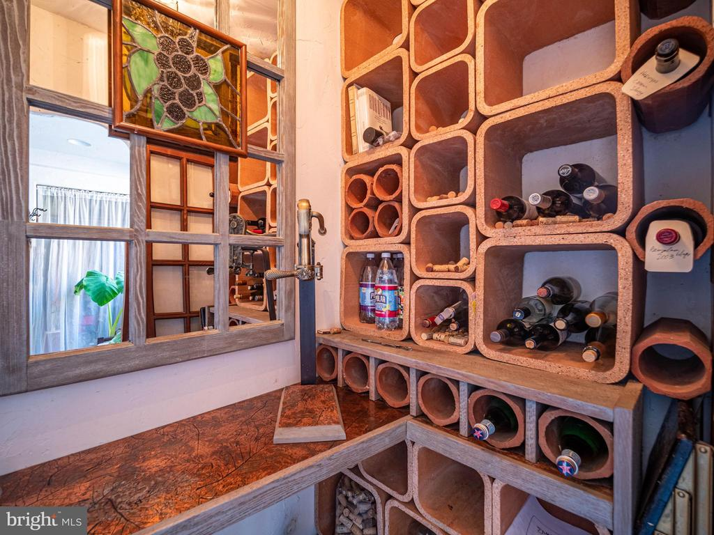 Inside the wine cellar in the mud room - 4610 FRIENDSHIP ACRES RD, NANJEMOY
