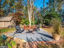 Sitting area in garden  - 12x24 shed in background - 4610 FRIENDSHIP ACRES RD, NANJEMOY