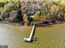 100' dock with boat lift and seating area - 4610 FRIENDSHIP ACRES RD, NANJEMOY