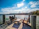 100' dock with seating area and boat lift - 4610 FRIENDSHIP ACRES RD, NANJEMOY