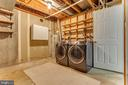 Laundry room w/  full size washer/dryer - 7421 FOXLEIGH WAY, ALEXANDRIA
