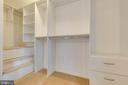 RARE Master BD closet with customized built-ins - 7421 FOXLEIGH WAY, ALEXANDRIA
