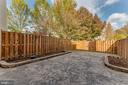 Stone patio in private backyard - 7421 FOXLEIGH WAY, ALEXANDRIA