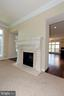 STAY WARM BY THE DOUBLE SIDED GAS FIREPLACE - 1351 VERRIER CT, VIENNA