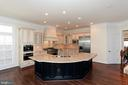 LARGE ISLAND WITH VEGETABLE SINK - 1351 VERRIER CT, VIENNA