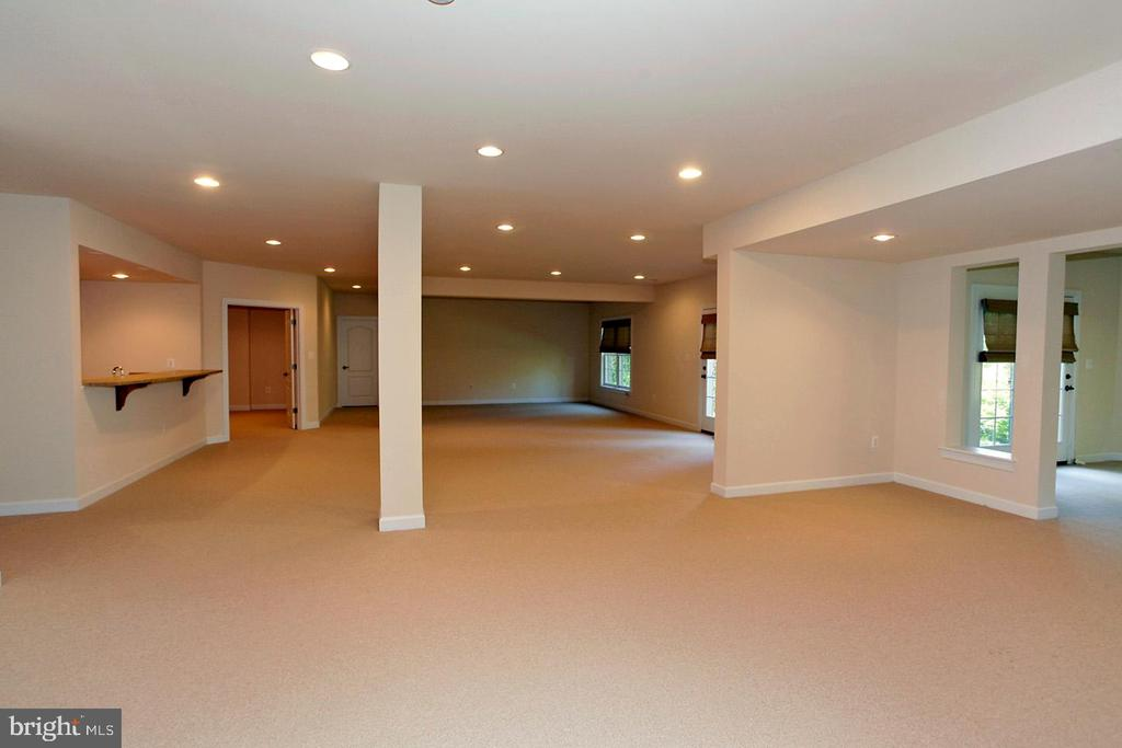 LARGE LOWER LEVEL (PIC 2) W/RECESSED LIGHT - 1351 VERRIER CT, VIENNA