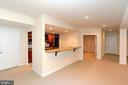 LOWER LEVEL WET BAR - 1351 VERRIER CT, VIENNA