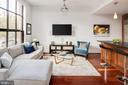 Living Room - Brazilian Cherry Floors - 1600 CLARENDON BLVD #W103, ARLINGTON