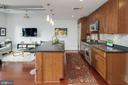 Gorgeous chef's kitchen w/Sub-Zero refrigerator - 1600 CLARENDON BLVD #W103, ARLINGTON