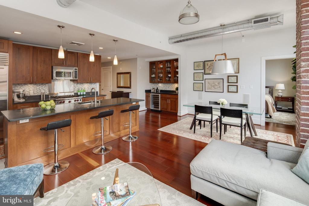 Open-concept floor plan - 1600 CLARENDON BLVD #W103, ARLINGTON