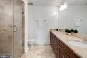 Master Bath with dual vanity/twin showerheads - 1600 CLARENDON BLVD #W103, ARLINGTON