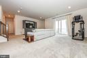 Fully finished basement with high ceilings. - 6804 W SHAVANO RD, NEW MARKET