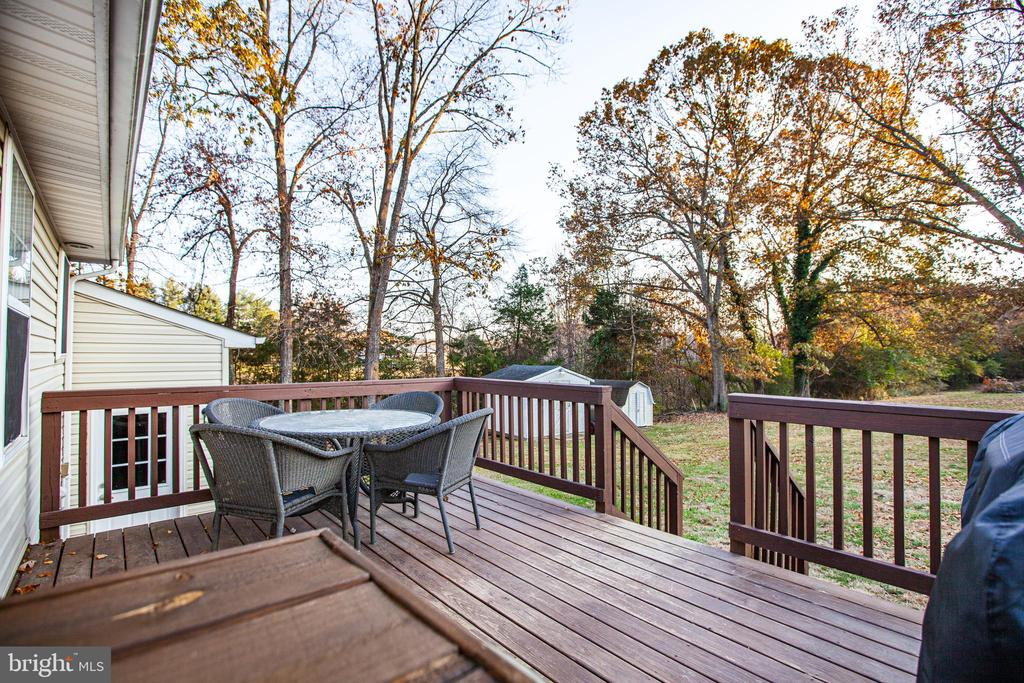 Rear Deck Left View - 8708 BROCK RD, SPOTSYLVANIA