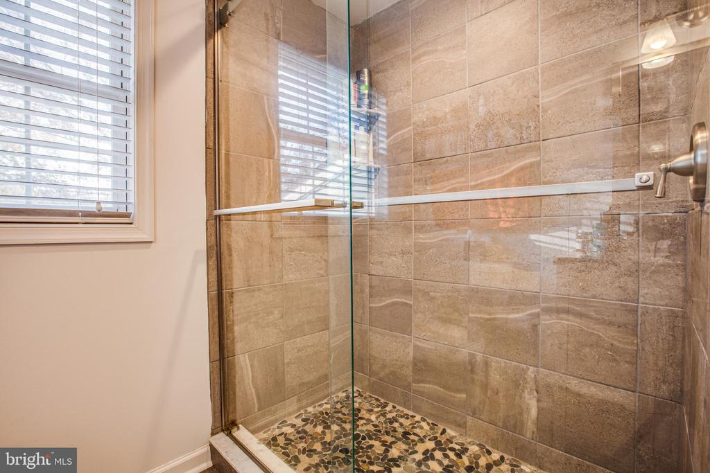 Custom Tile & Glass Shower in Master Bathroom - 8708 BROCK RD, SPOTSYLVANIA