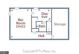 Lower Level Floor Plan - 11831 DINWIDDIE DR, NORTH BETHESDA