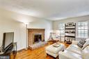 Family Room with Wood Burning Fireplace - 11831 DINWIDDIE DR, NORTH BETHESDA
