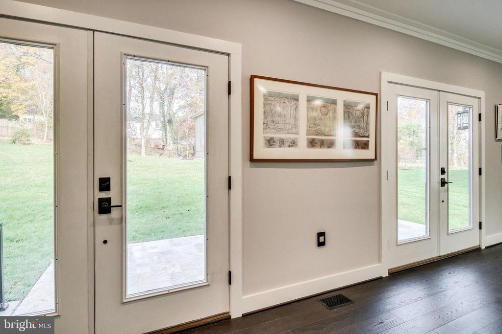 French doors leading to the  patio - 2144 PIMMIT DR, FALLS CHURCH