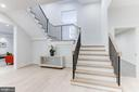 Grand staircase leading to sunny &chic lower level - 1823 BEULAH RD, VIENNA