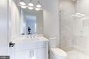 Each bath uniquely designed with custom tile - 1823 BEULAH RD, VIENNA