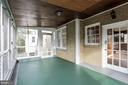 Screened porch - 7500 CONNECTICUT AVE, CHEVY CHASE