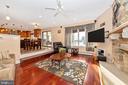 Sunken family room off kitchen. - 5302 IJAMSVILLE RD, IJAMSVILLE