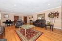 Formal living room - wood floors. - 5302 IJAMSVILLE RD, IJAMSVILLE