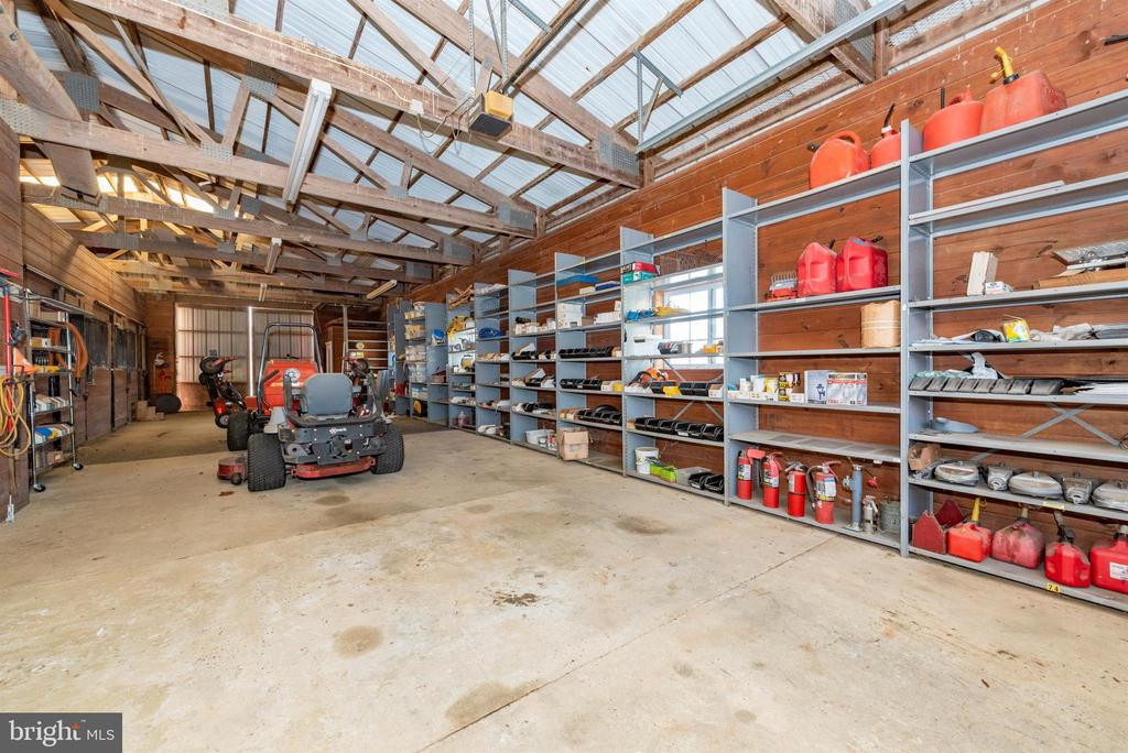 Interior of horse barn  - tons of storage. - 5302 IJAMSVILLE RD, IJAMSVILLE