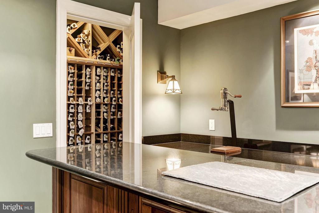 Wet Bar with 2 Wine Cellars - 57 BLENHEIM FARM LN, PHOENIX
